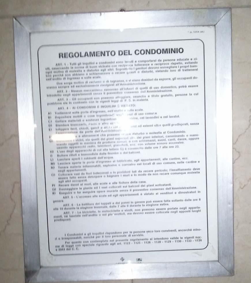 Menate al contrario sono quelle cose pagina 2 for Regole di condominio